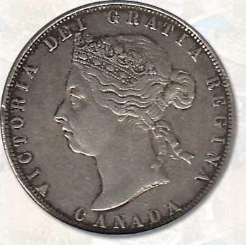 Canada XF 1898 Victoria Silver 50 Cents