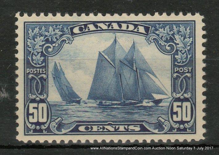 Canada #158 XFNH 1929 50c Bluenose $700