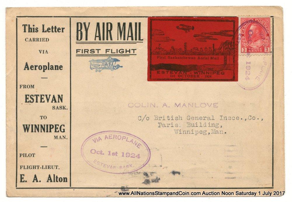 Canada #CLP5i 1 Oct 1924 $1 Estevan/Winnipeg Wide Spacing Variety Cover
