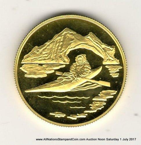 Canada Proof 1980 Arctic Territories $100 Gold .497oz AGW