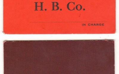 Hudson's Bay Company B.C. District Unused $1 Scrip on red card ex Hodgkinson