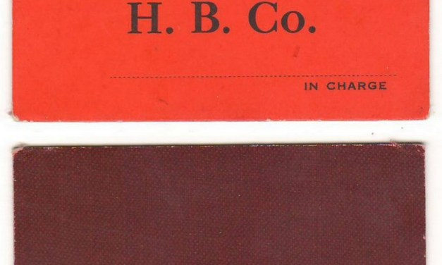 Hudson's Bay Company B.C. District Unused $1 Scrip on red card ex Hodgkinson
