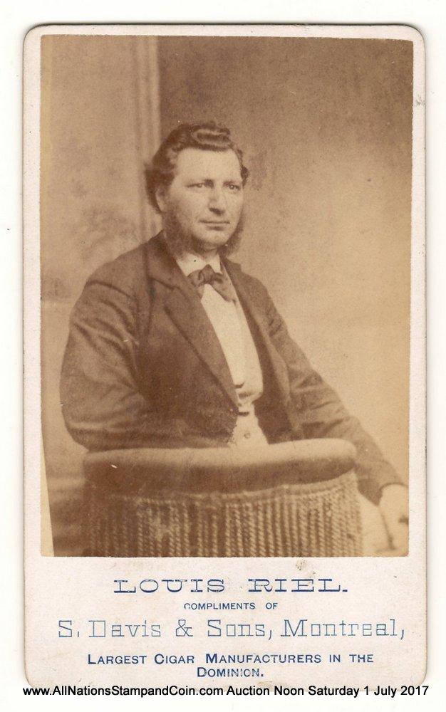 """Louis Riel, S. Davis & Sons, Montreal Real Photo 2.5x4"""" Carte de Visite"""