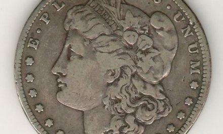 U.S.A. Fine 1889 CC Morgan Silver Dollar
