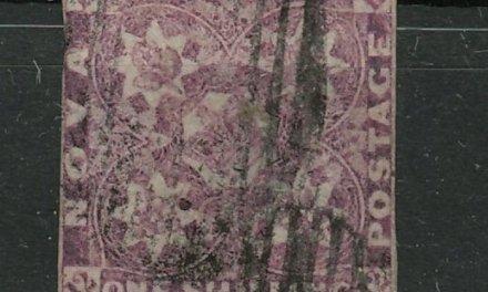 Nova Scotia #6 1851 1/- Red Violet