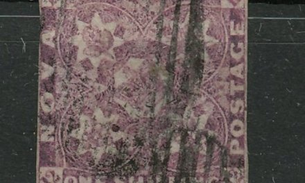 Nova Scotia #6 1851 1/- Red Violet