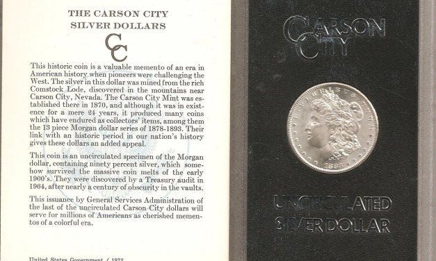 U.S.A. BU 1883CC boxed Carson City Silver Dollar in Government holder