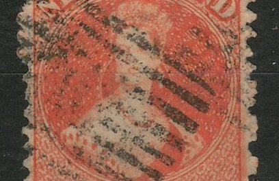 N.Z. #46 Fine Used 1873 2d Perf 12.5 Chalon Head