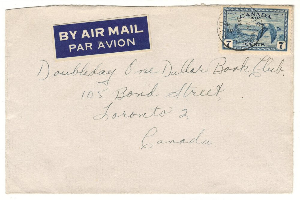 Whalley's Corner, B.C. RF E 1948 7c Airmail only known cover