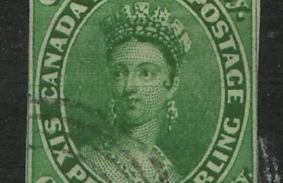 Canada #9 1857 7.5d Imperforate