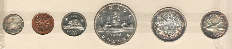 Canada Proof-like 1956 6-coin rev
