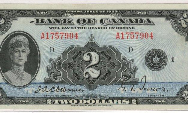 Canada #BC3E 1935 $2 Queen Mary