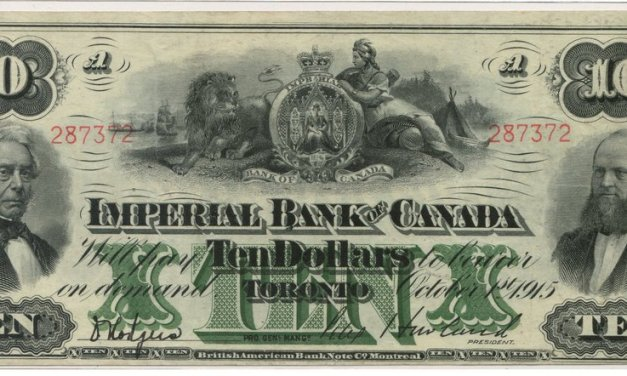 Imperial Bank of Canada 1915 $10 Bill