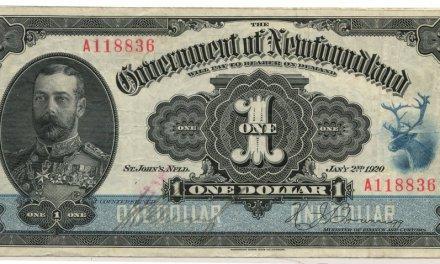 Newfoundland #NF13d 1920 $1 Banknote