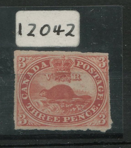 Lot 18 Canada #4c Unu 1857 3d Beaver