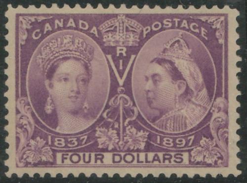 Lot 28 Canada #64 VF Mint HR 1897 $4 Jubilee