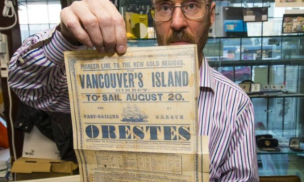 Page 3 Orestes broadsheet from 1858 Fraser River Gold Rush