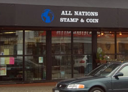 All Nations Stamp & Coin collectables store front