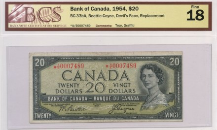 Bank of Canada 1954 Replacement $20 Devil