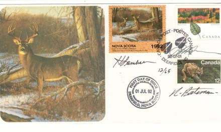 Nova Scotia first issue Wildlife Habitat Conservation First Day Cover #12/65