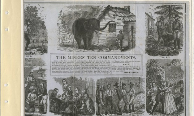 Page 4 The Miners' Ten Commandments, Fraser River Gold Rush collection