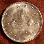 Canada 1935 George V Jubilee Silver Dollar