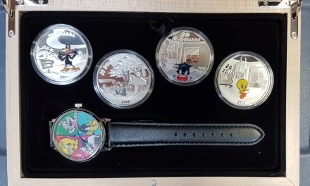 Canada Proof 2015 cased Looney Tunes $20 4-coin Pure Silver Set