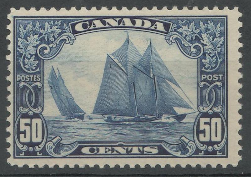 50c Bluenose stamp in stock album