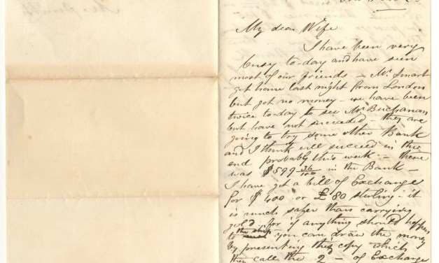 Marcus Smith 25 July 1860 letter to wife