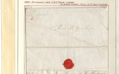 Page 13 1848 H.B.C. Statement to James Murray Yale from the Wellburn Fraser River Gold Rush Collection