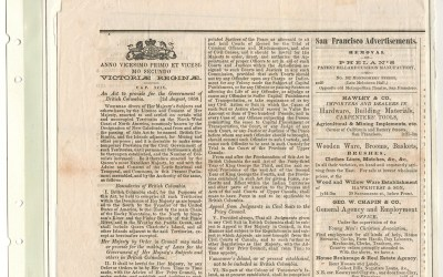 Page 11 1858 Act to Provide for the Government of B.C. in Victoria Gazette