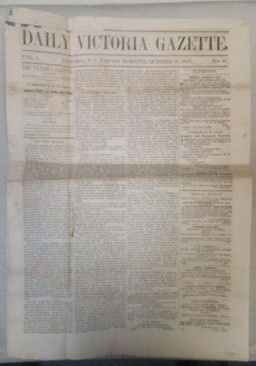Daily Victoria Gazette 1