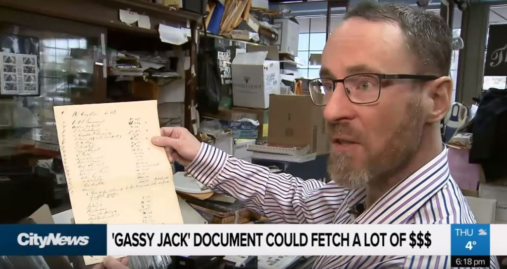 frame of Brian Grant Duff talks about Gassy Jack