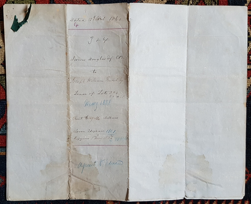 Outer page of lease