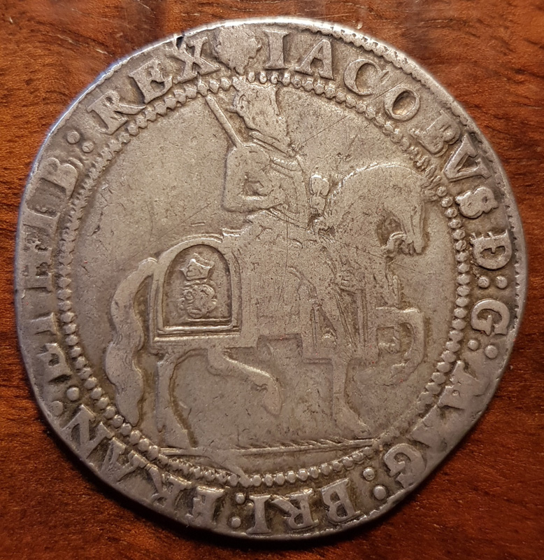 obverse showing King on horseback