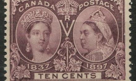 Canada #57 1897 10c Brown Violet Victoria Jubilee