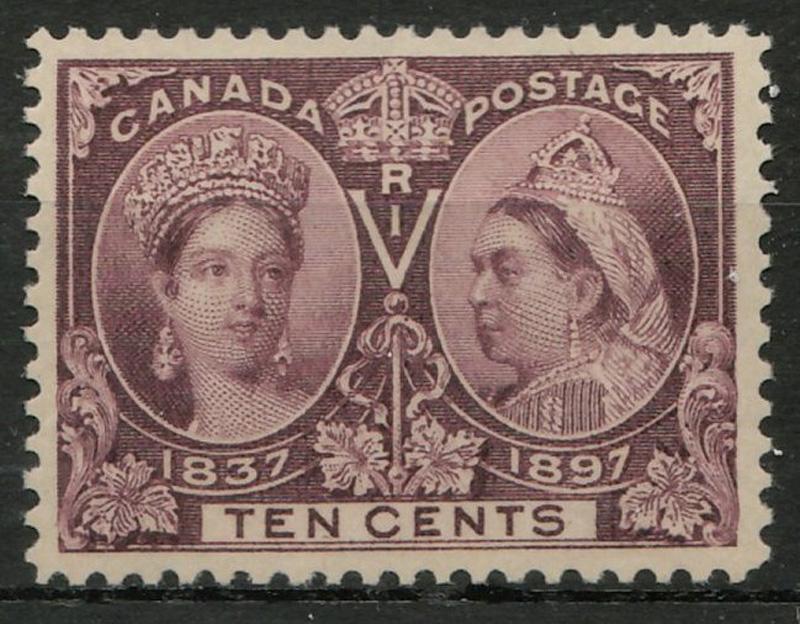 front of stamp, brown violet hue