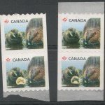 Canada #2711var unlisted NH Gnawing Beaver w/ normal Coil duo