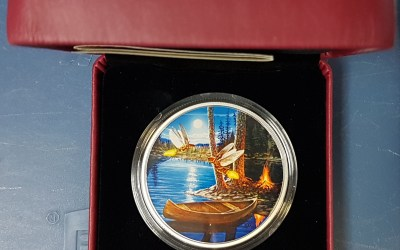 Canada Proof 2015 cased pure Silver Moonlight Fireflies 30 Dollars