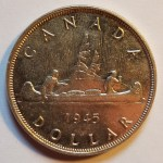 Canada XF 1945 George VI Voyageur Silver Dollar