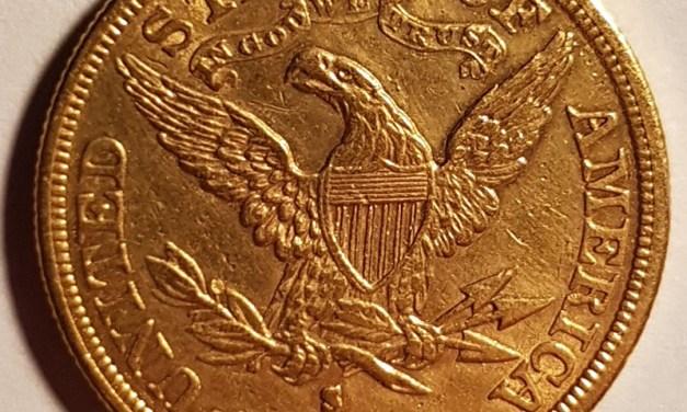 U.S.A./Colonial Canada XF 1882S $5 Gold Half Eagle