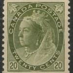 Canada #84 1900 20c Olive Green Victoria Numeral