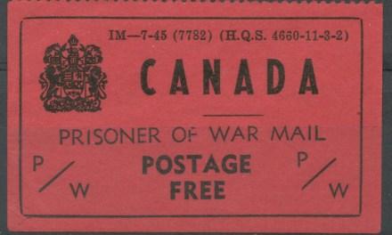 Canada #PWF5 VF Mint 1945 Prisoner of War Free Frank corner crease