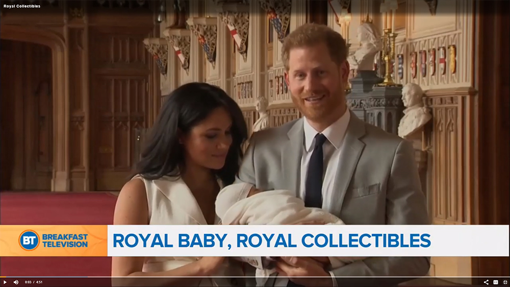 Royal Baby, Royal Collectibles on Breakfast Television
