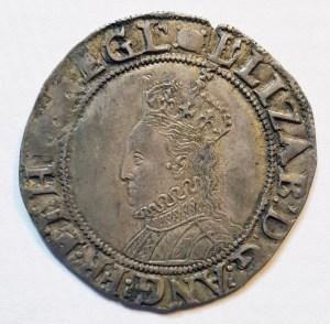 Obverse bust of Elizabeth I