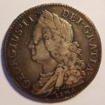 Great Britain VF 1745 George II Lima Silver Half Crown