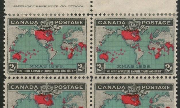 Canada #86b F/VF Mint 2 NH top margin Imprint Map reentry Block (4)