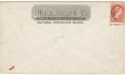 Wells Fargo Unu Victoria, V.I. 3c Small Queen Cover