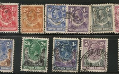 Northern Rhodesia #1/16 Used 1925/1929 George V US$332. (15)