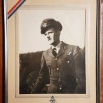 1939/1945 named R.C.A.F. Silver Memorial Cross, plaque, photo